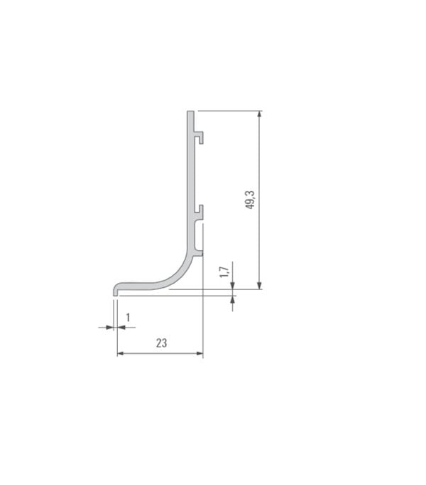 Profile for horizontal orientation mounting