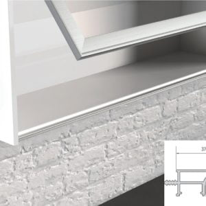 Flush pull grips for wall cabinets, suitable for LED lighting