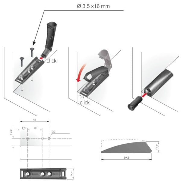 Magnetic catch L-Lock