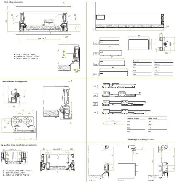 """""""TEN"""" drawer H-90 mm"""