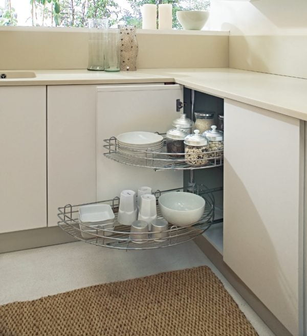 Pull out corner carousel (half) for 900 mm cabinet