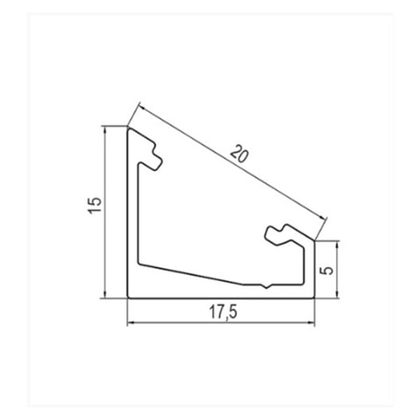 LED profile for corner installation Corner 60/30