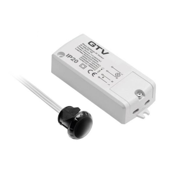 Isolated IR switch controller with flexible IR sensor detector, 100 - 240V