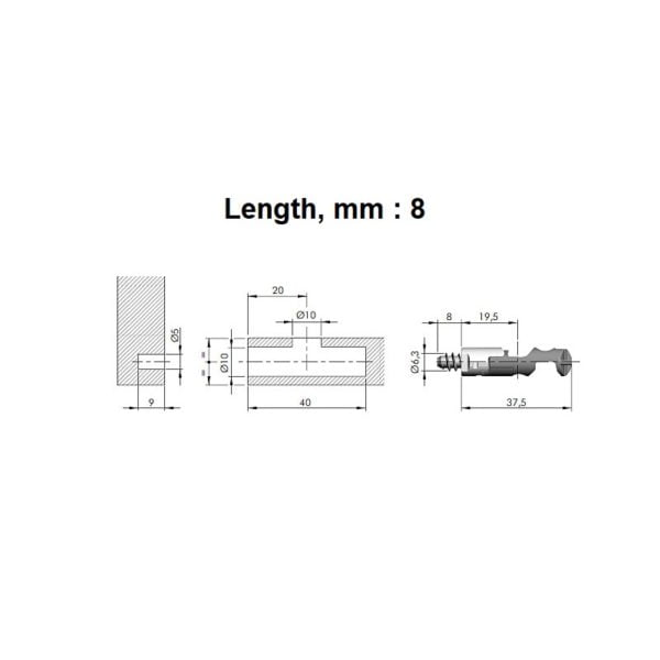 TARGET J10 connecting fitting screw, euro 3