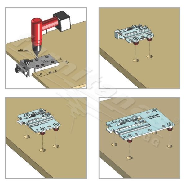 Template for drilling holes