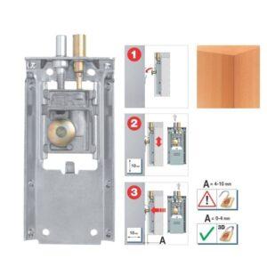 Fully concealed cabinet holder 823