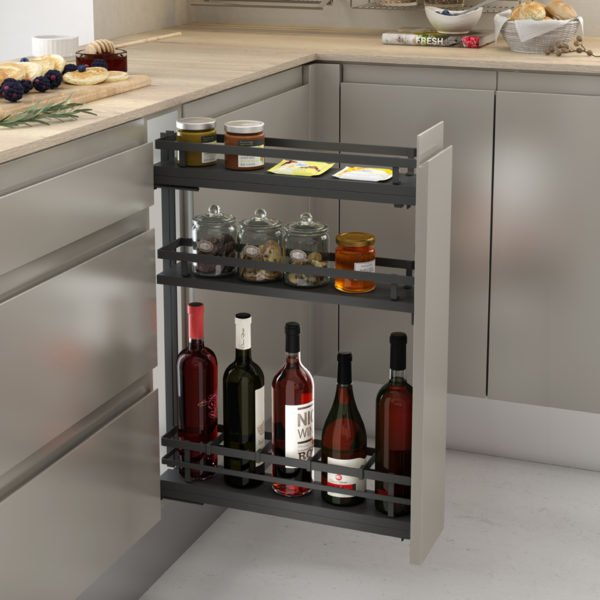 """Pull-out bottle side runners """"Menage confort FLAT"""""""