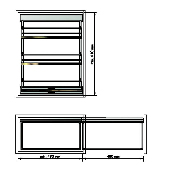 """Pull-out frame side runners """"Menage confort COMPACT"""""""