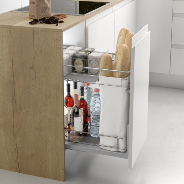 """Pull-out bottle-bread basket """"Menage confort CLASSIC"""""""