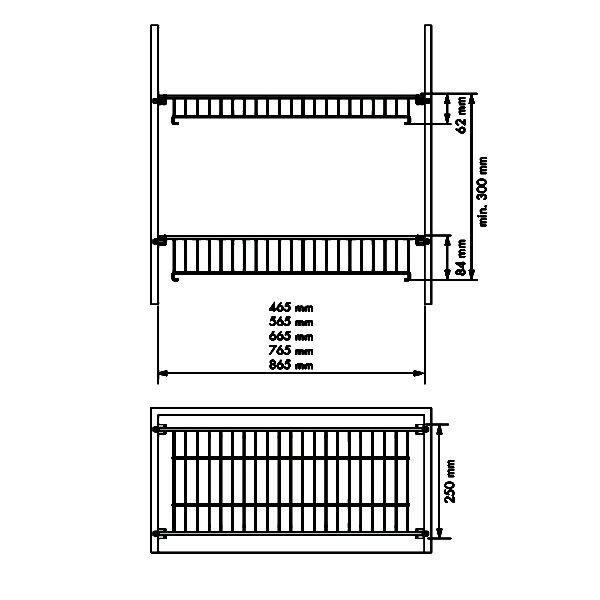 Dish and glass rack set CLASSIC