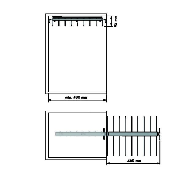 Pull-out trouser holder 1