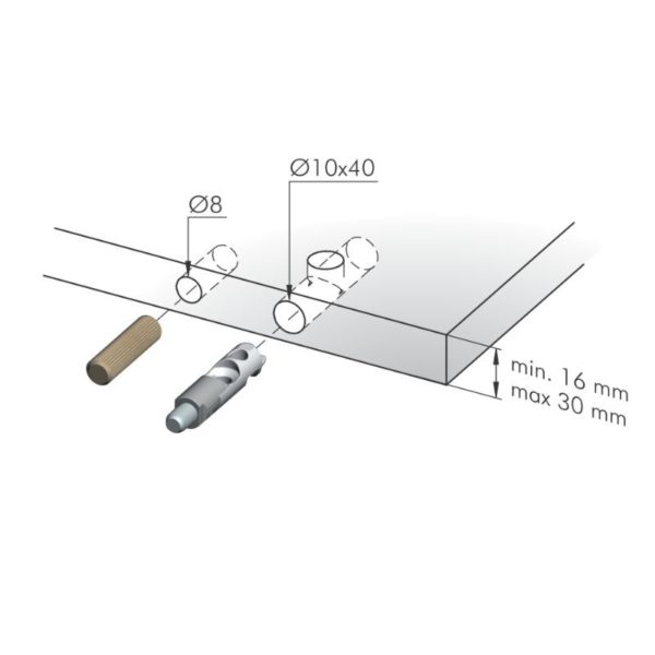 Bushing drilling guides for wooden and Target dowels