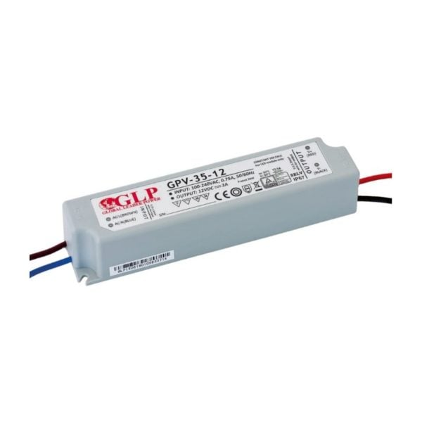LED POWER SUPPLY 12V, 36W, 3A