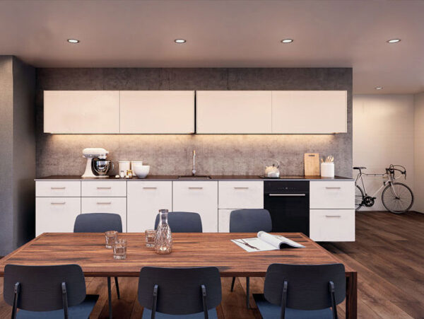 "Coplanar sliding door system ""Eku Frontino 20 H OS"" for kitchen highboards 2"