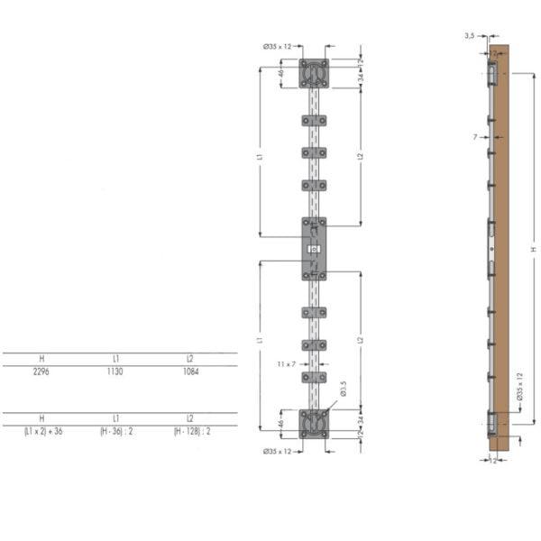 Door straightening kit (for one wooden door) 4